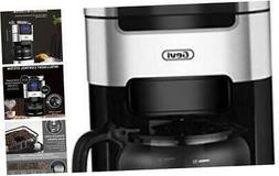 10-Cup Drip Coffee Maker, Grind and Brew Automatic Coffee Ma