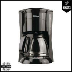 12-Cup Coffee Maker In Black With Drip-Free Carafe And Progr