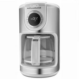 12 cup coffee maker white with glass