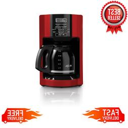 12 Cup Drip Coffee Maker Programmable Brew Restaurant Pot Ma