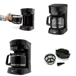 12-Cup Programmable Black Drip Coffee Maker With Automatic S