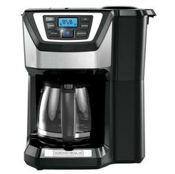 12-Cup Programmable Stainless Steel Drip Coffee Maker with B