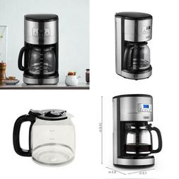 12-Cup Stainless Steel Programmable Drip Coffee Maker With C