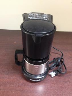 4-Cup Black Drip Coffee Maker with Stainless Steel Carafe WC