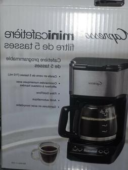 Capresso 5-Cup Mini Drip Coffee Maker Black & Stainless Stee