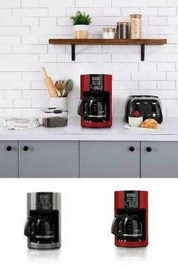 Automatic Brew Timer Mr Coffee Maker 12 Cups Red Drip Remova