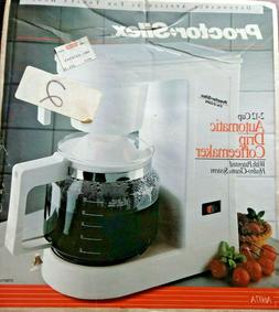 Proctor-Silex Automatic Drip White Coffee Maker 2-12 Cup Mod