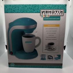 Kitchen Selectives, Blue 1-Cup Single Serve Drip Coffee Make