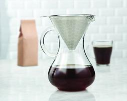 Brilliant - Drip Coffee Maker Glass Carafe with Pour Over St