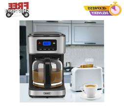 Coffee Maker, 12 Cups Programmable Drip Coffee Maker with Co