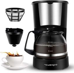 Coffee Makers 4 Cup Coffee Maker with Coffee Filter and Glas