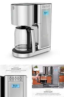 Drip Coffee Maker Glass Series 8-Cup Silver Stainless Steel