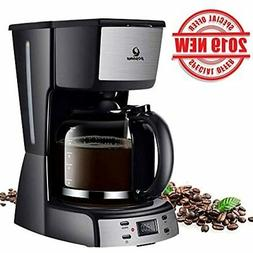 Electric Coffee Makers-12 Cup Programmable Smart Drip Brew M