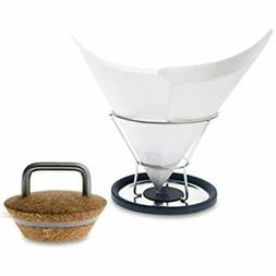 Insulated Cork Lid And Drip-Free Filter Stand For Chemex Cof