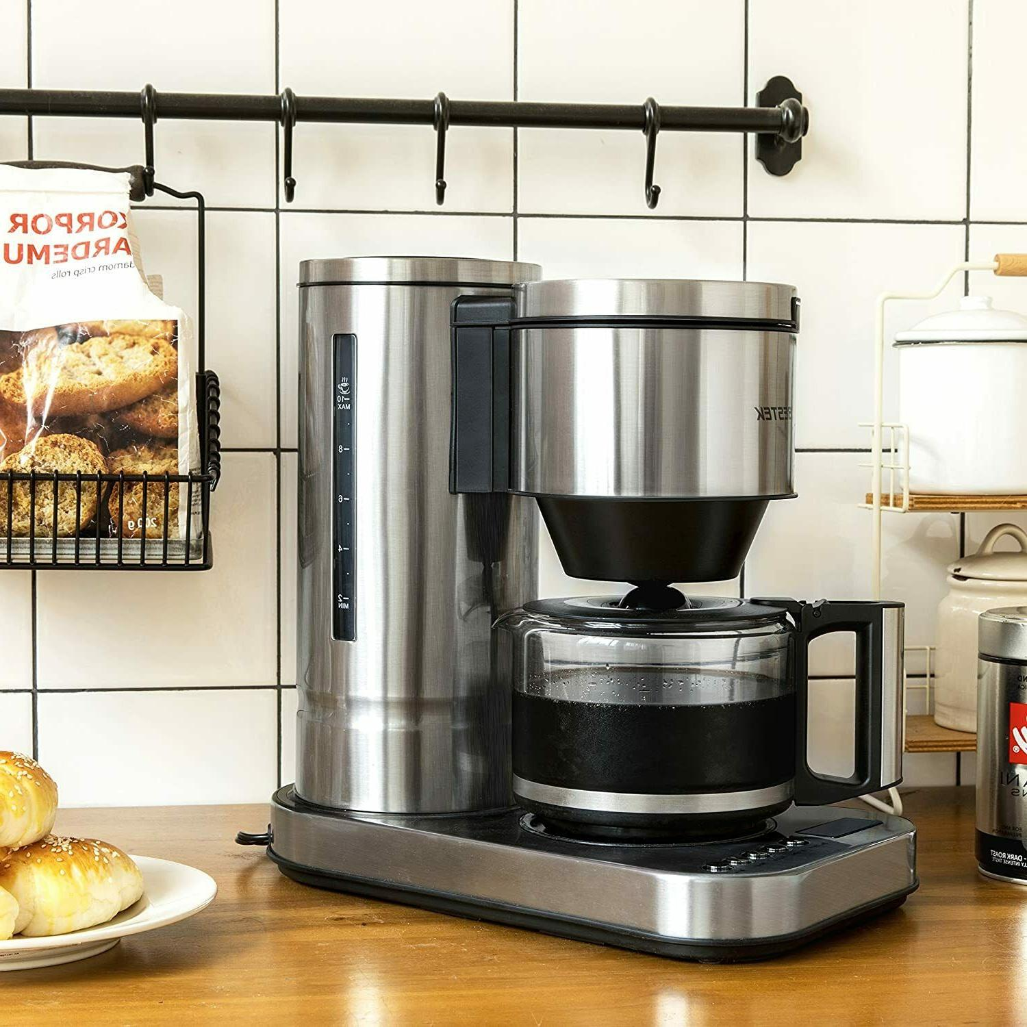 10 cup drip coffee maker in stainless