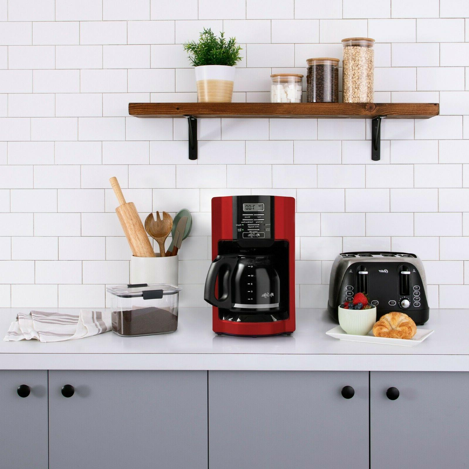 Mr. Coffee 2082689 12 Cup Automatic Drip Coffee Maker - Red