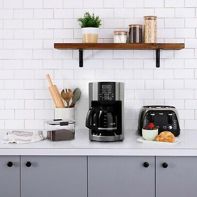 Automatic Drip Coffee Maker Programmable Kitchen Counter Home