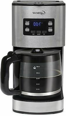 Coffee Maker Drip 12 Cup Stainless Steel w/ Carafe Coffee Sc