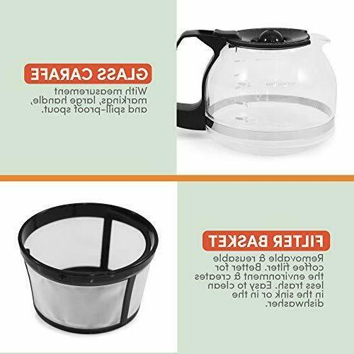 Maxi-Matic Drip Coffee Cup Capacity and Filter