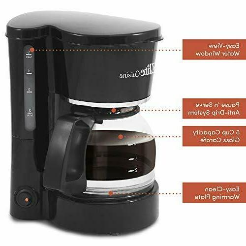 Maxi-Matic Automatic & Drip Maker Cup Capacity and Reusable Filter