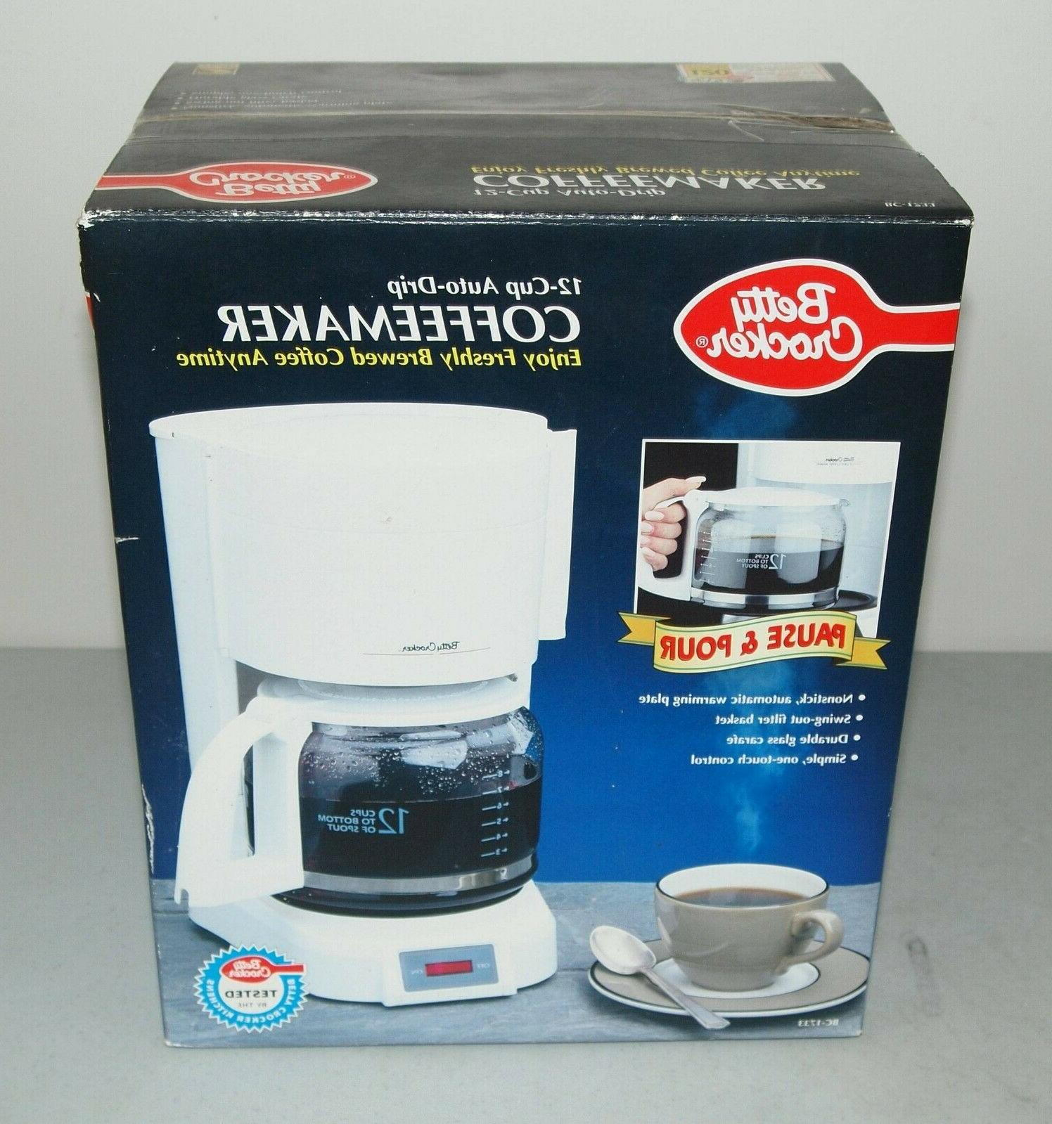 new 12 cup auto drip coffee maker