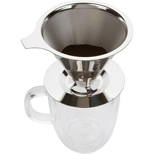 KAIZEN Maker Stainless Steel Reusable Drip Cone Coffee