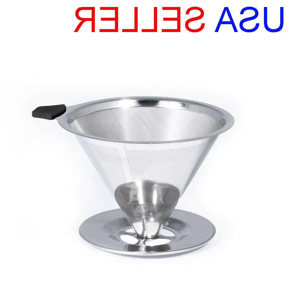 pour over coffee maker stainless steel reusable