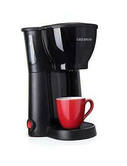Mixpresso Mini Compact Drip coffee Maker With Brewing Basket Black Small Coffee