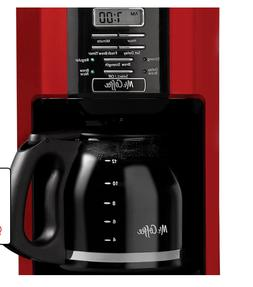 Mr. Coffee 12-Cup Drip Coffee Maker, Red