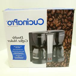 New Cucina Pro Double 12 Cup Coffee Maker Permanent Filter D