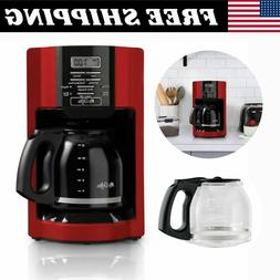 NEW Mr. Coffee 12 Cup Automatic Drip Coffee Maker, Red