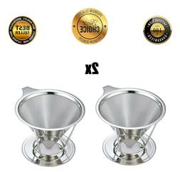 Pour Over Coffee Dripper with Cup Stand, Cone Filter Drip Co