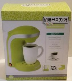 Kitchen Selectives Single Drip Coffee Maker With Mug, Green