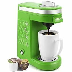 Single Serve Coffee Maker With Removable Drip Tray, Green Ki